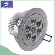Blanco Aluminio 3W 5W 7W 9W 12W 15W LED Downlight de techo