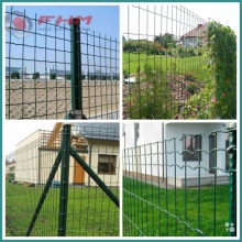 Grüner Euro-Zaun Welded Fence with Post