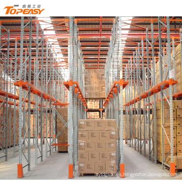 Nueva unidad de almacén de acero resistente en estante de paleta