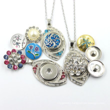 Popular Leaf Shaped Pendant with Snap Button Jewelry