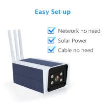 Cámara solar inalámbrica alimentada por batería con 3 antenas