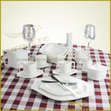 15 PCS Ceramic Tableware Lozenge Theme Series