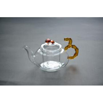 Wholesale Handmade Clear Heat Resistant Borosilicate Glass Teapot with Infuser