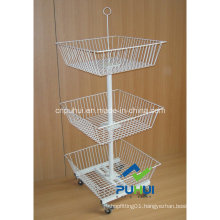 3 Tier White Wire Basket Fixture (PHY501)