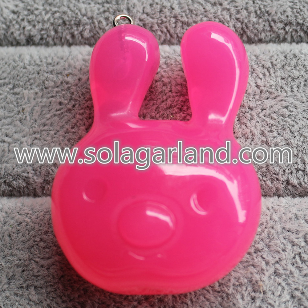 Plastic Rabbit Pendants