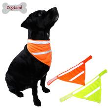 Wholesale Reflektierende Hund Haustier Bandana Zubehör Hund Haustier Sicherheit Neon Schal