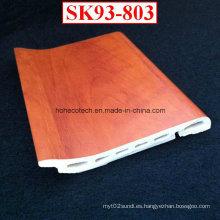 Tablero que bordea de la instalación creativa de WPC Tablero que bordea de la capa de Sk93 del PVC Sk93-803