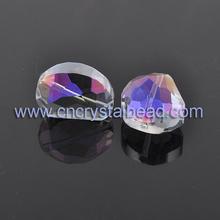 enduit de couleur arc en ciel bijoux perles de cristal
