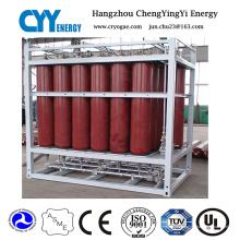 Offshore-Sauerstoff-Stickstoff-Argon-Kohlendioxid-Zylinder-Zahnstange