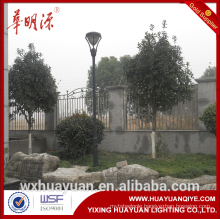 Steel material hot dip galvanized decorativr garden lighting pole light