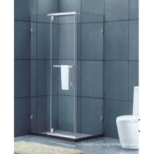 Cuarto de baño de cristal templado Staniless marco de acero de cristal de ducha (H016C)