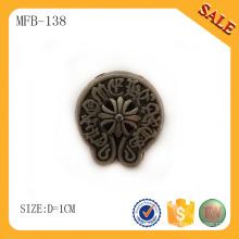 MFB138 Bouton en métal antique en laiton, bouton vintage en métal pour jeans