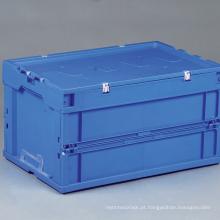 Recipiente de armazenamento de plástico dobrável