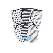 organic swaddle adjustable blanket 100%cotton baby swaddle