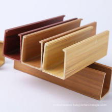 Wood PVC Interior Modern False Decorative Wood Ceiling for Prefabricated House 40*45mm