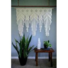 Beau rideau de porte en macramé fait main confortable et délicat