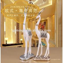 Оптовые стенд полистоуна олень ремесла животных статуя фигурка украшение праздника