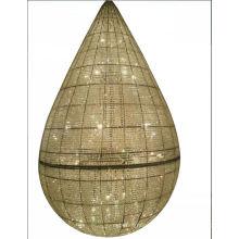 Lámpara colgante de cristal decorativa del hotel de lujo