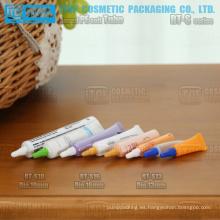 diámetro 13mm 16mm y 19mm mini y uso amplio pe plástico suave redonda tubo flexible cosméticos