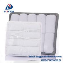 Super Cheap 100% Cotton Disposable Aviation towels with thongs in Tray Super Cheap 100% Cotton Disposable Aviation towels with thongs in Tray