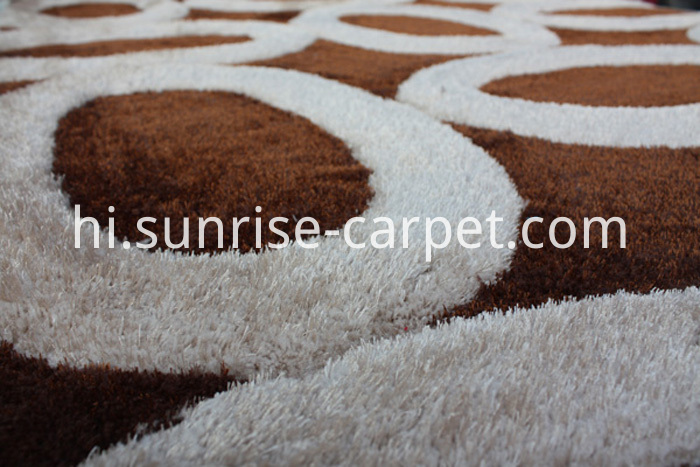 3D Shagy Rug with Modern Design Beige Color