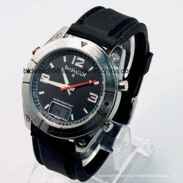 Customized Radio Controlled Mens Relógios de pulso Movimento Japão