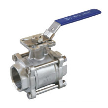 Резьбовой шаровой клапан 3PC с монтажной колодкой