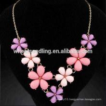 Metal rural flowers temperament diffuser necklace