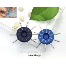 Optical eyeglasses screw depth gauge