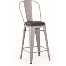 Tolix Bar Metal Chair High Back Soft Pad