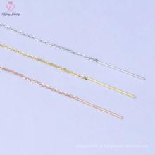Novo design simples 925 jóias de corrente de prata para homens