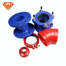 grooved Pipe Fitting, flange connection ductile iron pipe fittings