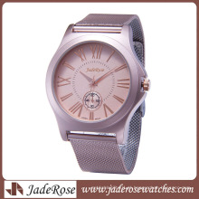 All Alloy Watch for Mulheres Moda Pink Alloy Assista