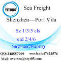 Shenzhen Port Sea Freight Shipping To Port Vila