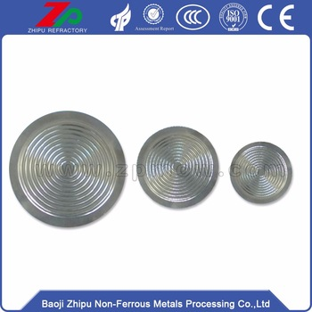 Special tantalum diaphragm for instrument and meter