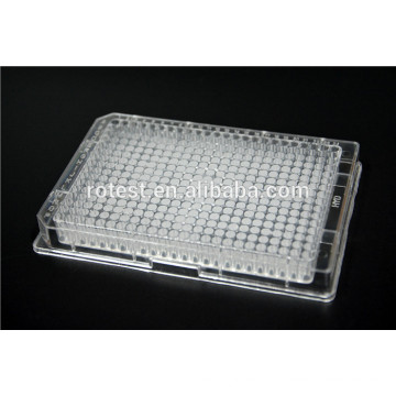 placa de cultura celular de 384 poços tratada com cultura de tecidos