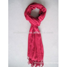Long red promotional viscose scarf