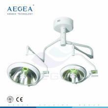 AG-LT017B Iluminación terapia del paciente bulbo sin sombras utilizado dos cabezas lámpara de mesa quirúrgica