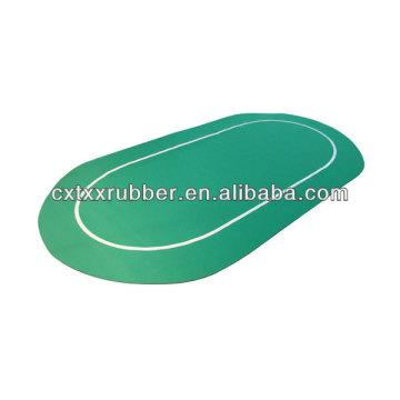 green poker top mat, printed poker table mat,gambling casino table mat