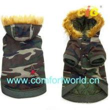 Capa de algodón cómodo y encantador del animal doméstico