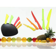 5PCS buntes Plastikhandgriff-Küche-Messer-Satz (SE-3560) (3560)