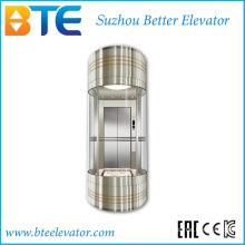 Ce 800kg Bon Décoration Panoramique Ascenseur Sans Salle de Machine