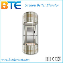 Ce 800kg Good Decoration Panoramic Lift Without Machine Room