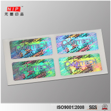 25 micron Holographic Security Labels Stickers for Sealing
