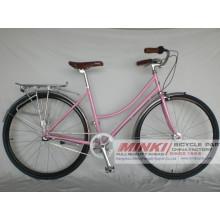 Bicicleta del vintage de la bicicleta de la ciudad de