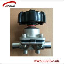 Válvula de control de diafragma de soldadura sanitaria de acero inoxidable
