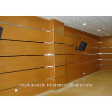 Produit turc Panneaux muraux en bois acoustiques en bois de hêtre de haute qualité