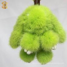 New Arrival Mink Fur Rabbit Shape Key Ring Fur Bag Charm Car Pendant