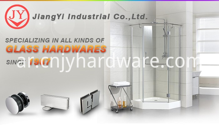 180 Degree Wall Glass Hinge Shower Enclosure