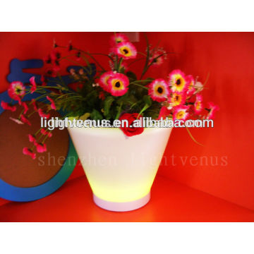 New products 2015 innovative product for homes led planter plastic tube flower vase mold